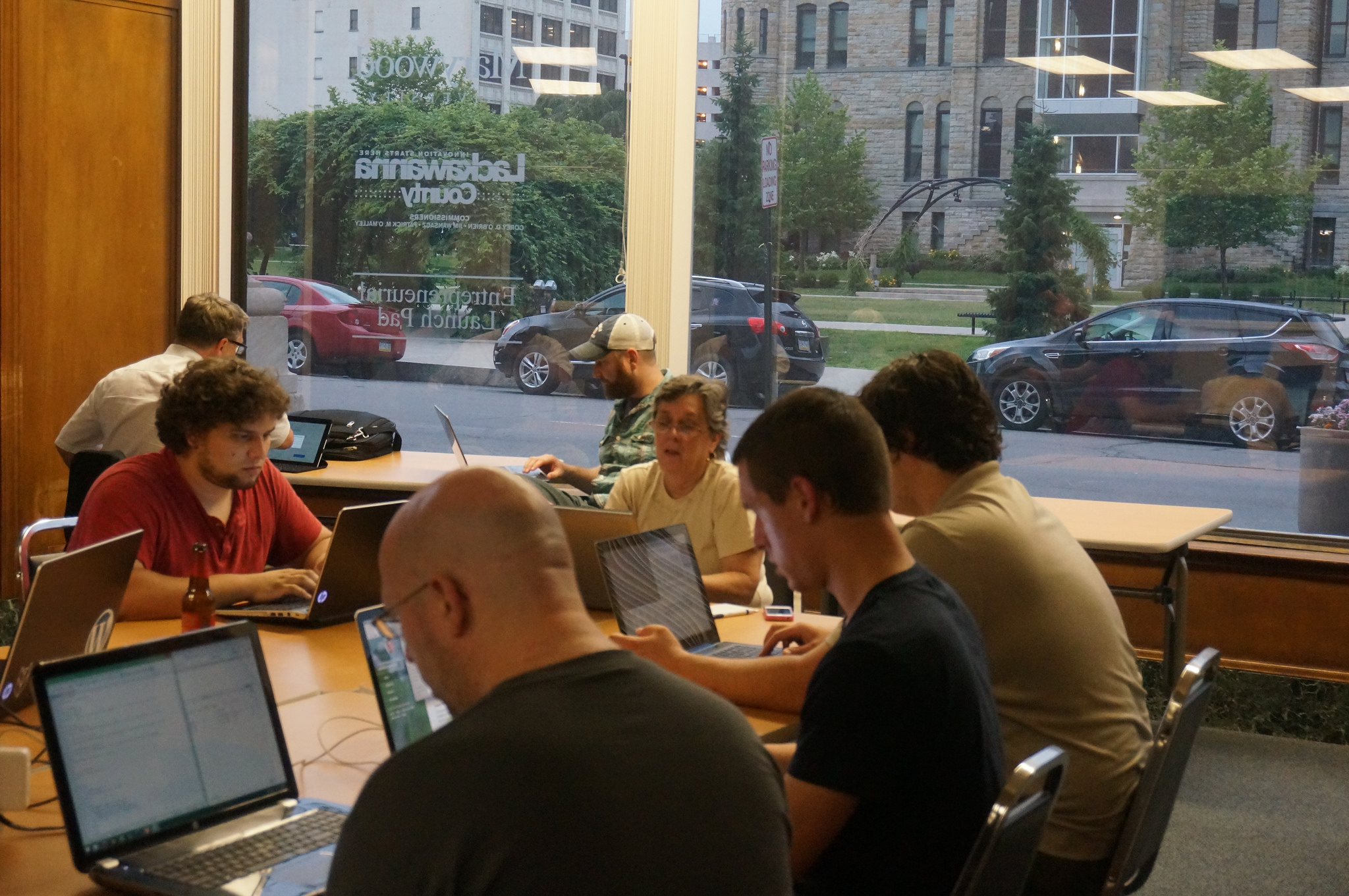 Working hard at one of our Summer Coding Sessions.