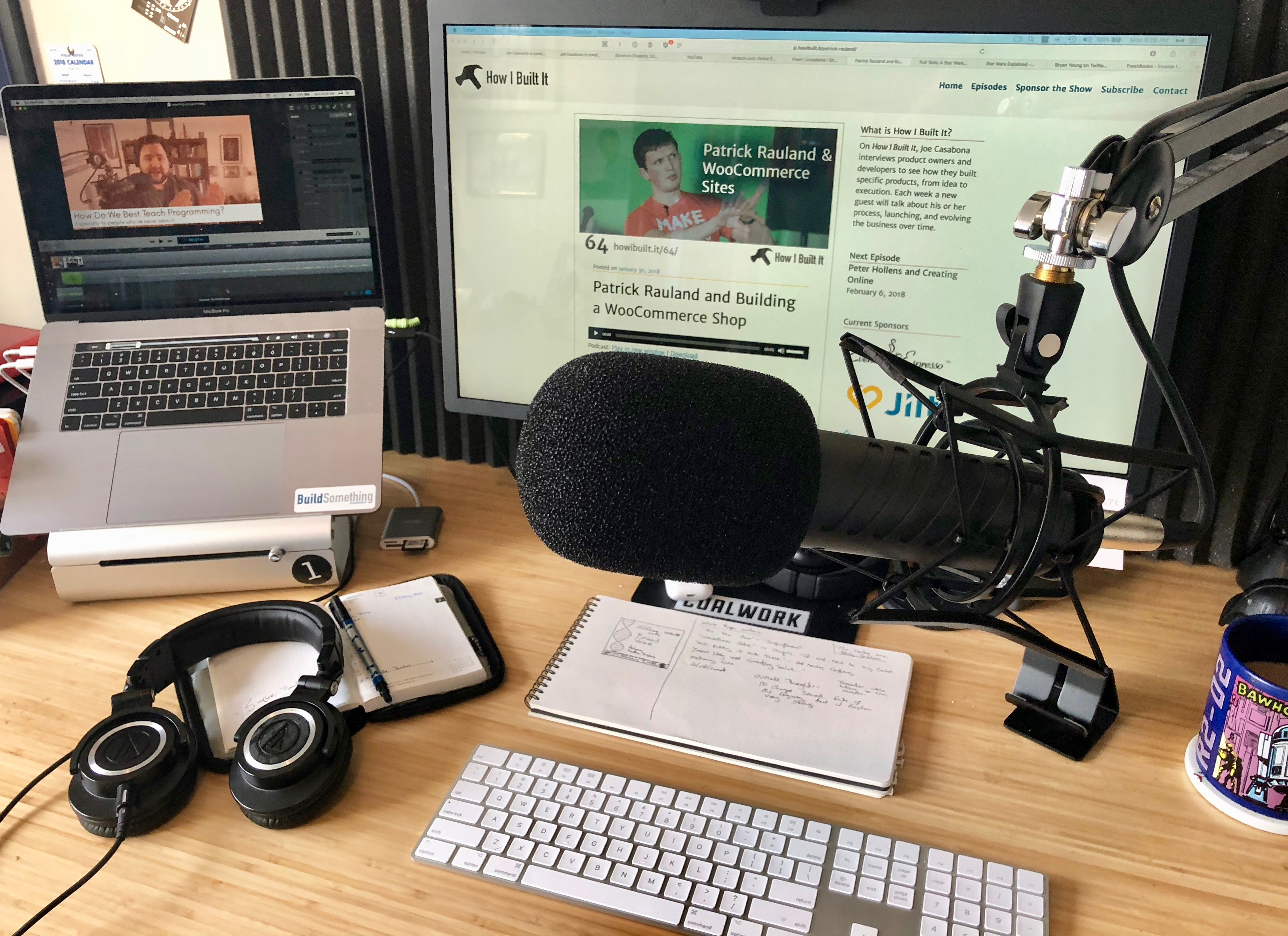 My podcast setup for Summer 2018