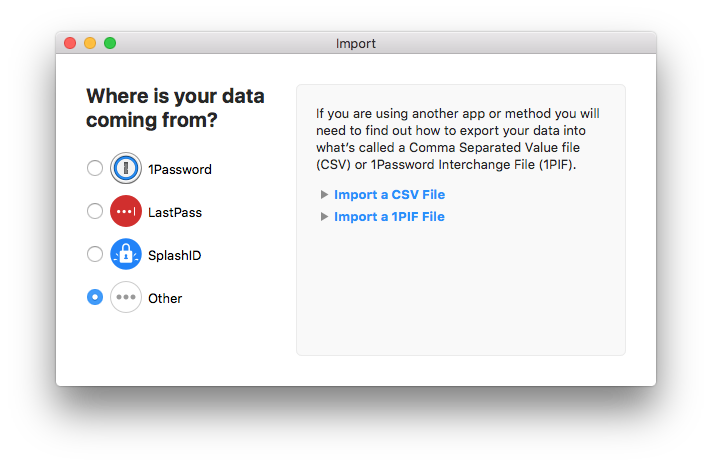 Lastpass import from 1password 7 | Import your data from LastPass