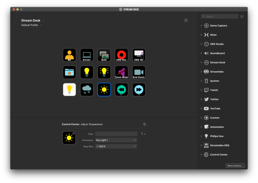 Stream Deck software on macOS