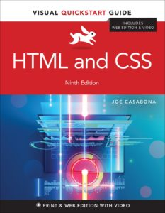 HTML and CSS: Visual QuickStart Guide book Cover