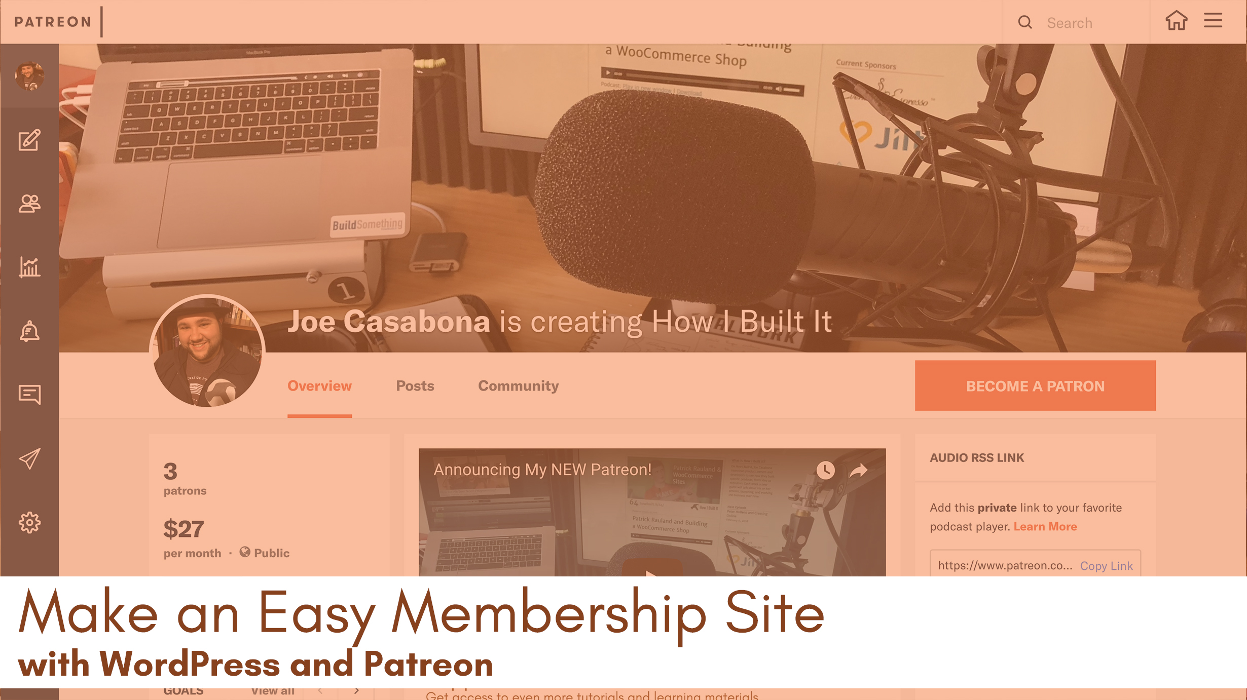 how to build a membership site with wordpress