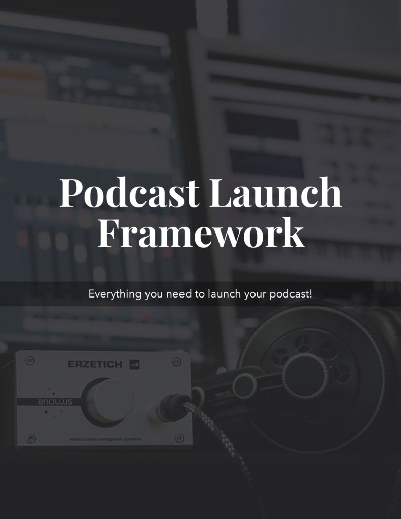 Podcast Launch Framework ebook cover